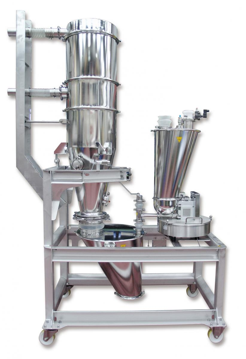 Batch weigh system with P100 batch weigh receiver and KT20 gravimetric feeder