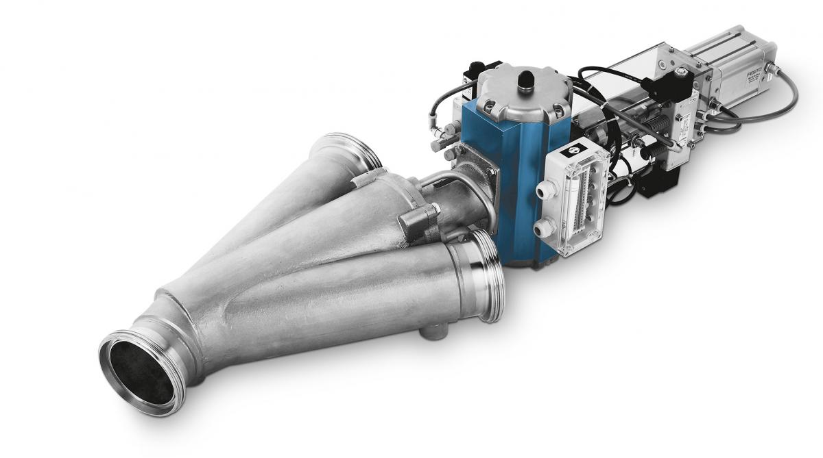 Two-Way-Diverter-Valve WYK Cleaning-In-Place Design